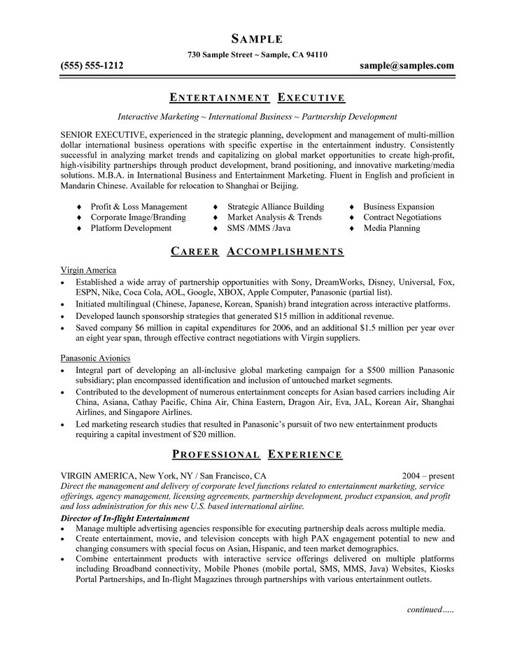 Resume Word Document Template. Theatrical Resume Template Word