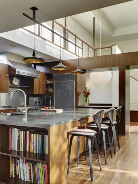 great kitchen, open