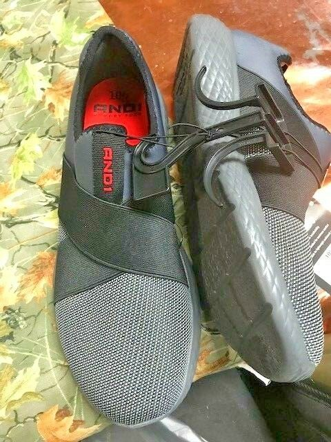 AND1 SZ 11 Shoes BLACK/GRAY Mens SLIP ON NEW #AND1 #RELAX