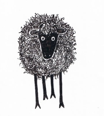 how to draw a scribble sheep