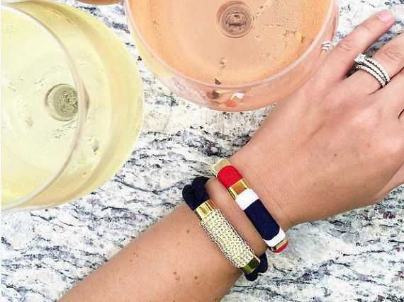 Nautical Rope Bracelet / Nautical Jewelry / Ivory Rope