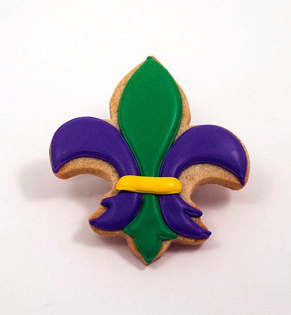 Decorated Cookies  Mardi Gras  Fleur de lis  1/2 by katieduran, $18.00