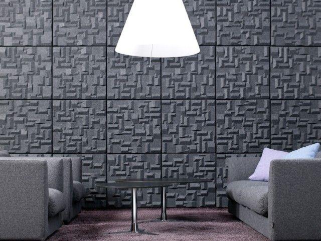 Dekorative 3d Akustikplatten mit geometrischen Mustern-Ideen zum Wanddesign