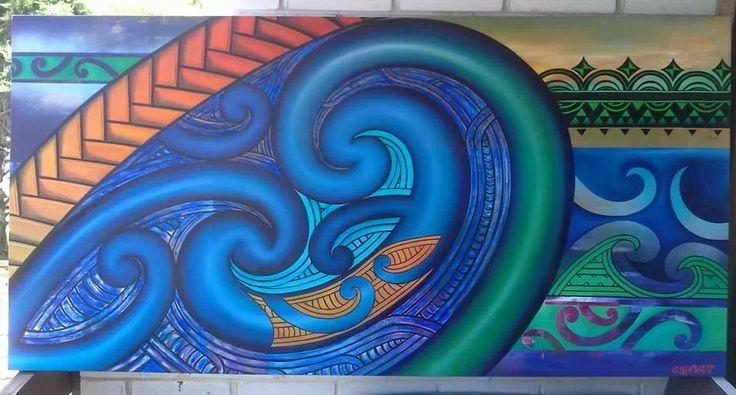 Maori/Cook Island fusion art