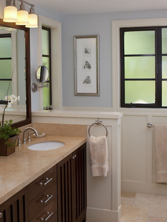 Small bathroom half wall height idea master bathroom for Small bathroom 6 x 5