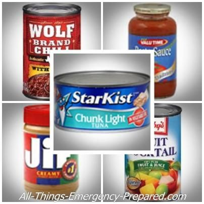 Best canned foods to stock ICE. Add them to whatever you have canned from your garden.