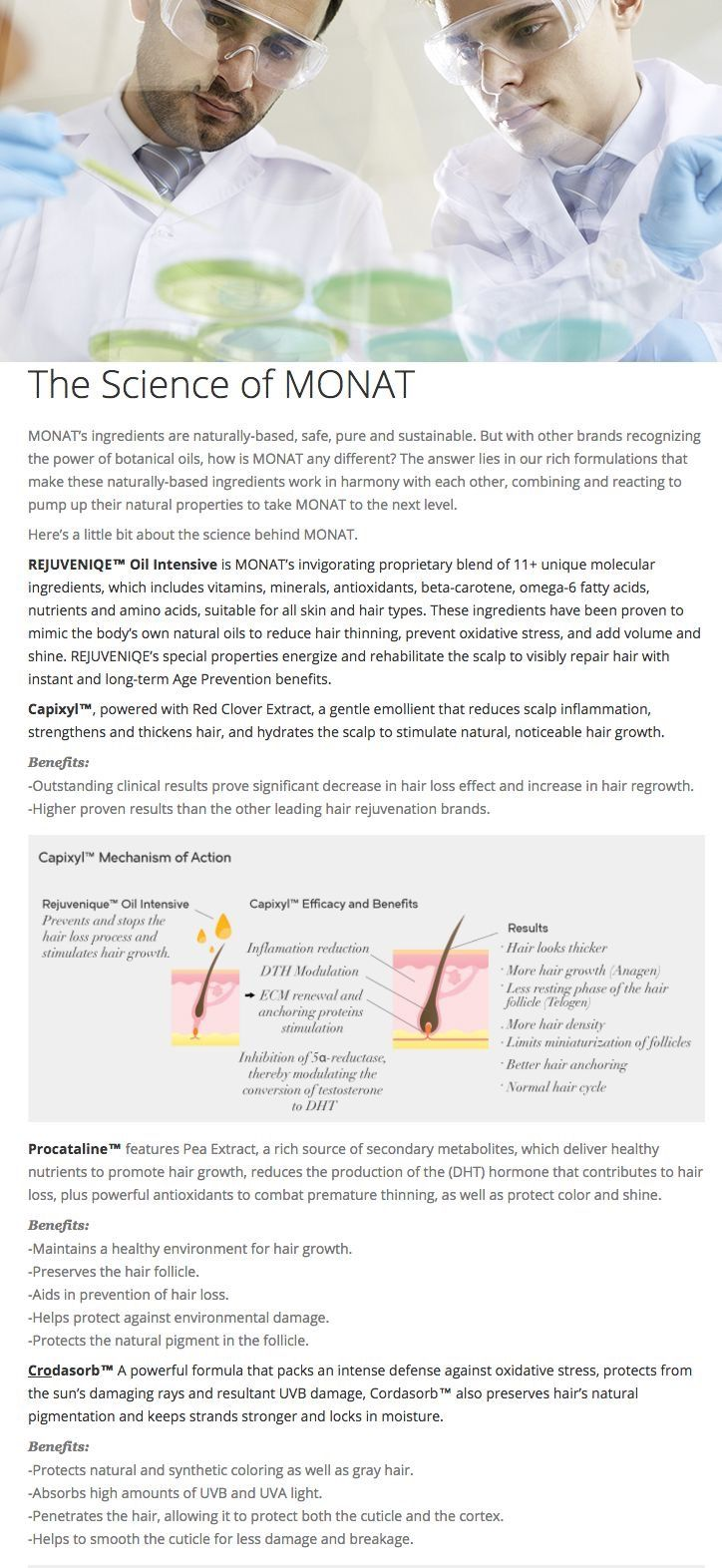 Science behind Monat Monat hair, Monat, Monat ingredients