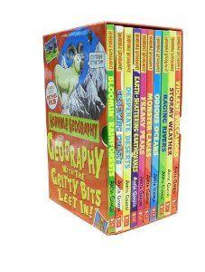 En samling af 10 bøger fra 'horrible geography' serien.