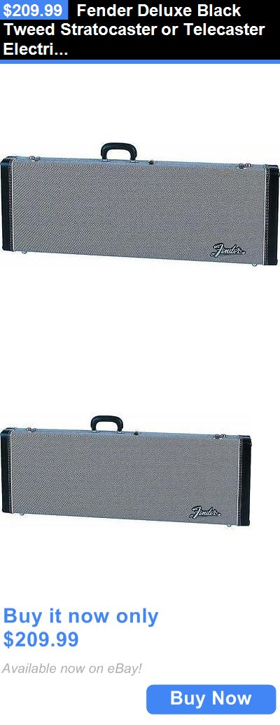 musical instruments: Fender Deluxe Black Tweed Stratocaster Or Telecaster Electric Guitar Case BUY IT NOW ONLY: $209.99