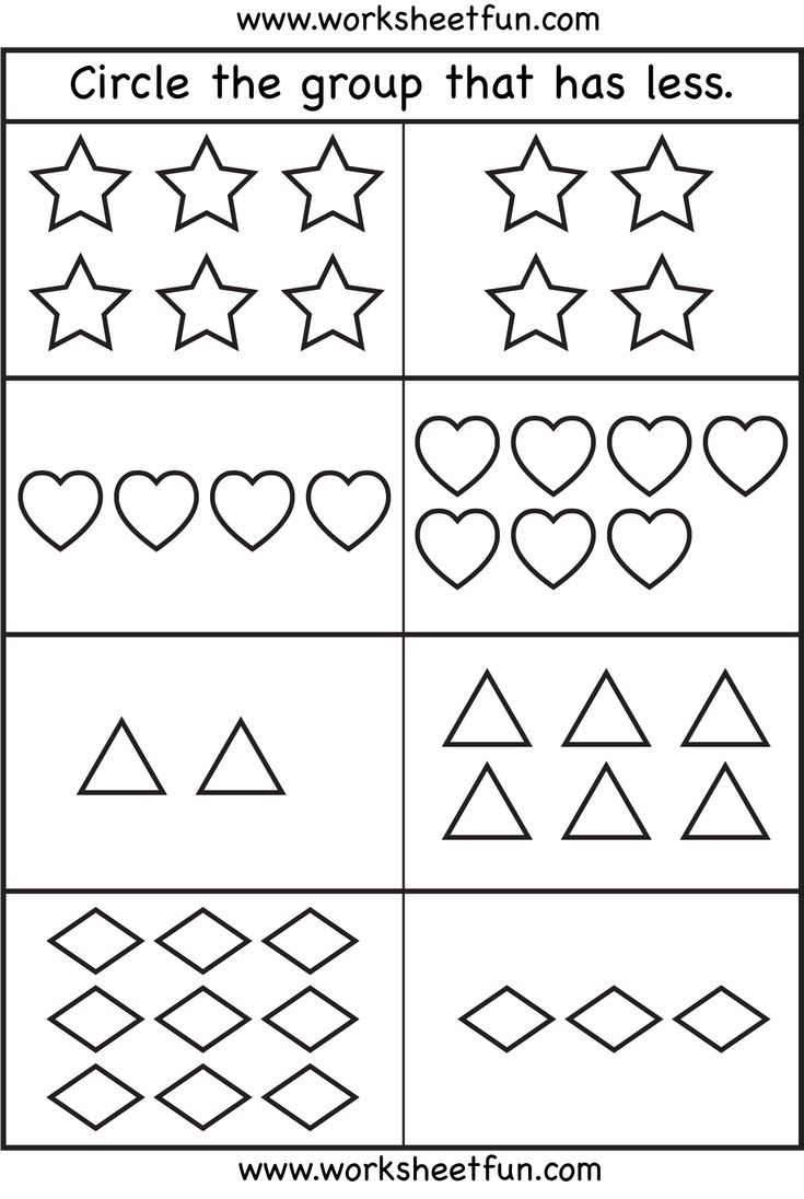worksheet More And Less Worksheets 48 best more or less images on pinterest pre school less