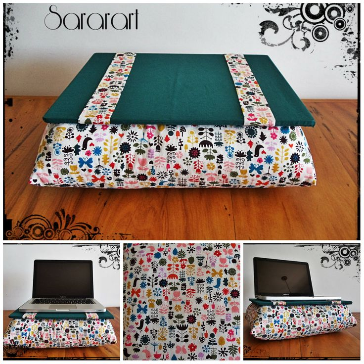 Almofada para Notebook, feita em 100% algodão, enchimento com perolas de isopor. Altura: 11.00 cm - Largura: 30.00 cm - Comprimento: 37.00 cm - Peso: 450 g