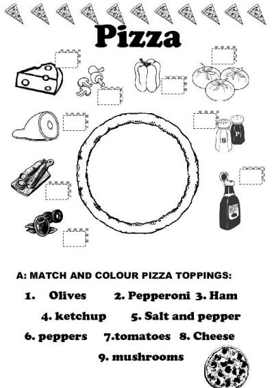 pizza game! It looks like they spelled color wrong. Opps!