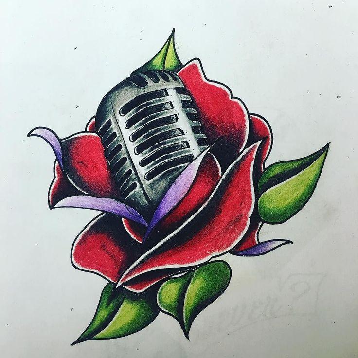Quick sketch for an upcoming appointment ! #bodyandsouljc #bodyartsouljc #music #jerseycitytattoo #jerseycitynj #nj #njtattoo #newjersey #newjerseytattoo #rose #microphone #vintage #neotraditional #neotraditionaltattoo #tattoo #tattoos #tattooartist #tattooart #tattoolife #tat #tattoodesign #tattooflash #design #art #draw #color