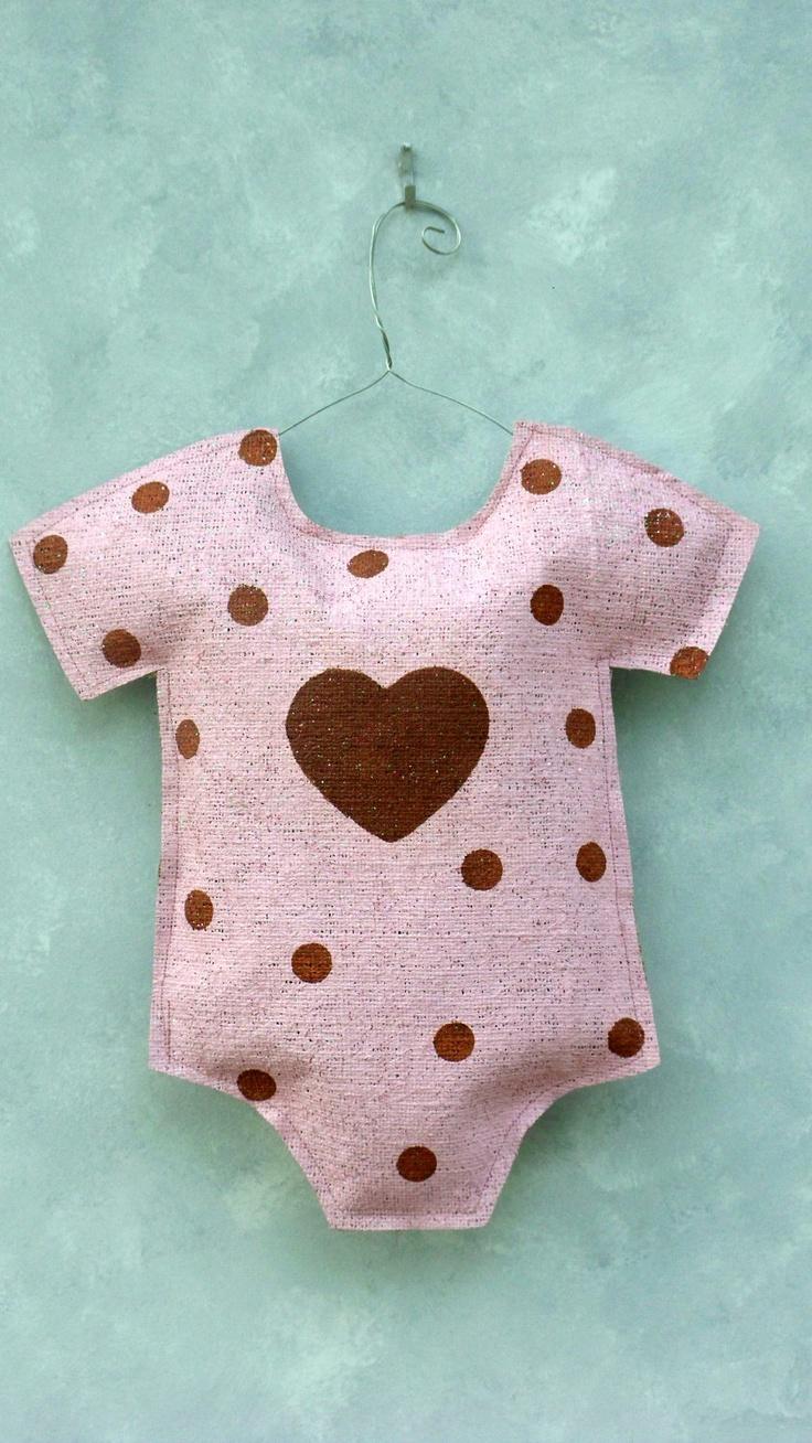 Baby Girl Onsie Burlap Door Hanger. $30.00, via Etsy.
