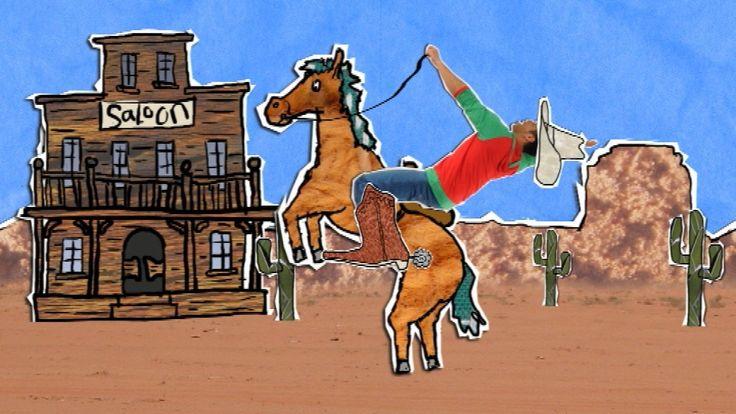 Een swingend liedje uit HoelaHoep over een cowboy en een indiaan.