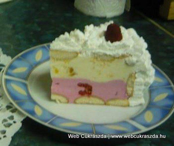 Habos málnás-barackos-joghurtos torta