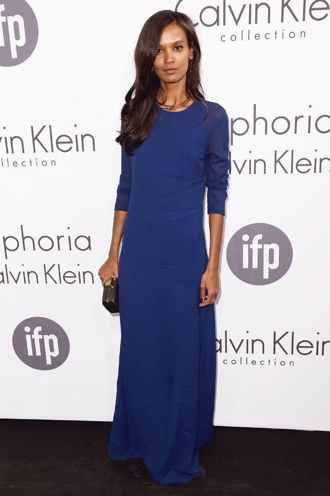 Лия Кебеде в Calvin Klein Collection на вечеринке Calvin Klein