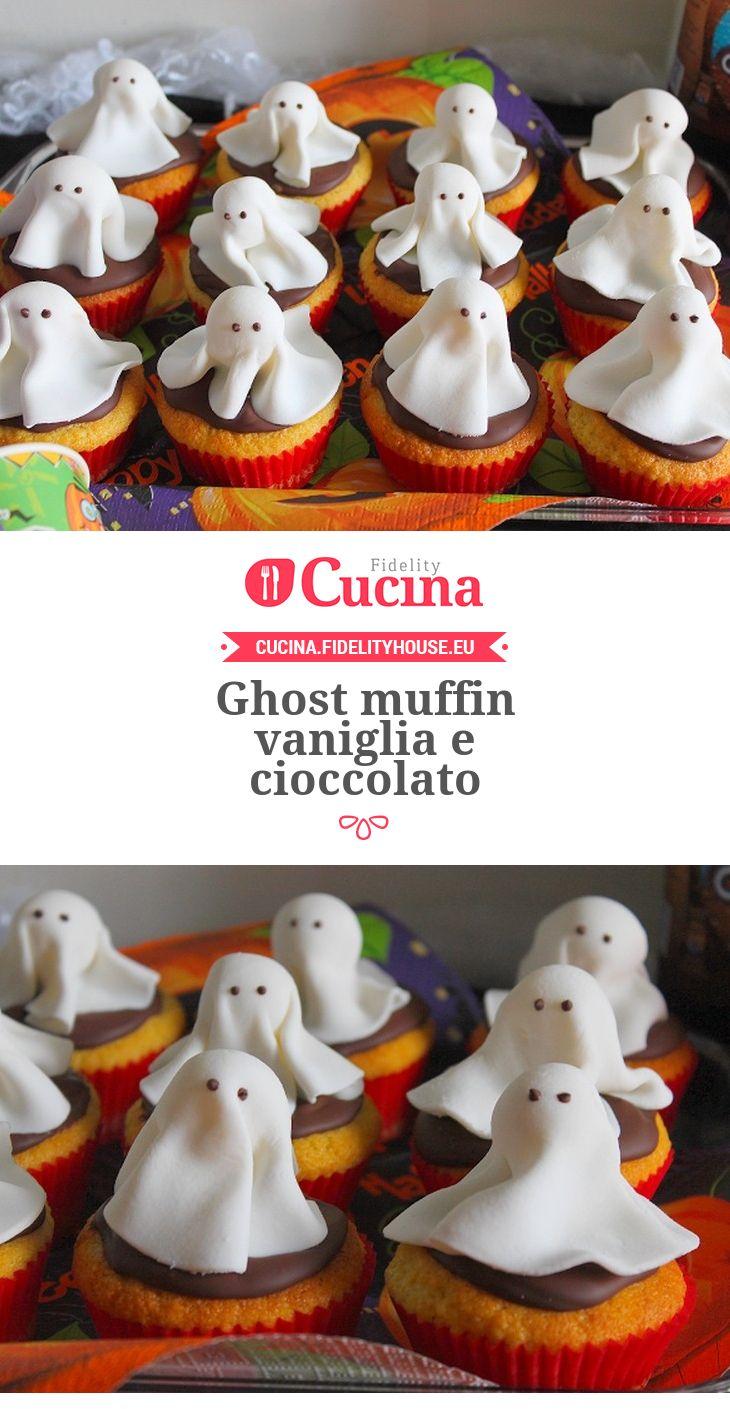 Ghost muffin vaniglia e cioccolato Ricetta Ricette