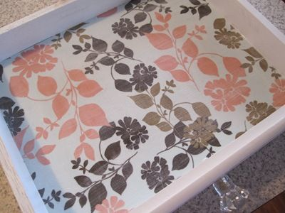 Fabric + Mod Podge = awesome drawer/shelf liners!