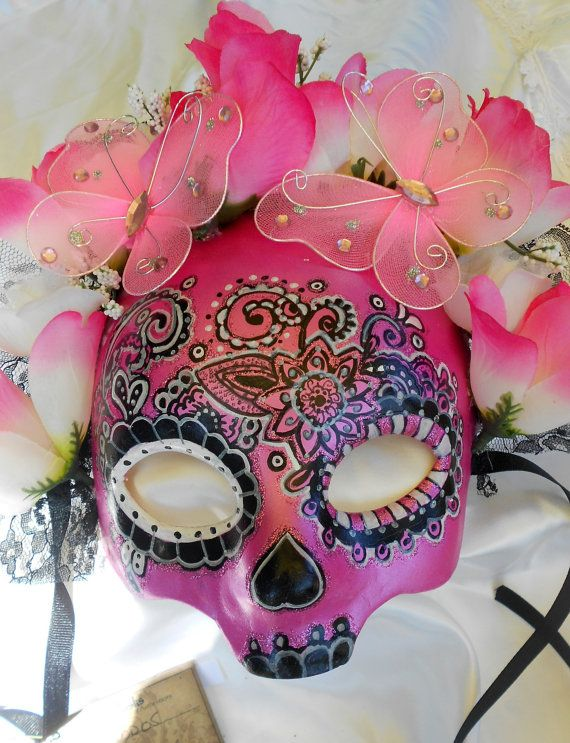 Hey, I found this really awesome Etsy listing at http://www.etsy.com/listing/130150525/pink-day-of-the-dead-mask