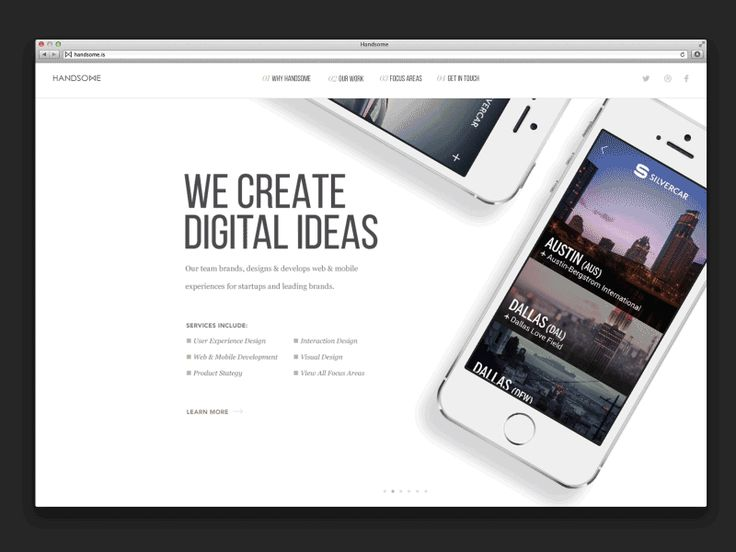This afternoon I was able to spend some time bringing to life some of @Brandon Termini's wonderful designs for the new Handsome site. Here is an one early concept for part of the navigation along w...