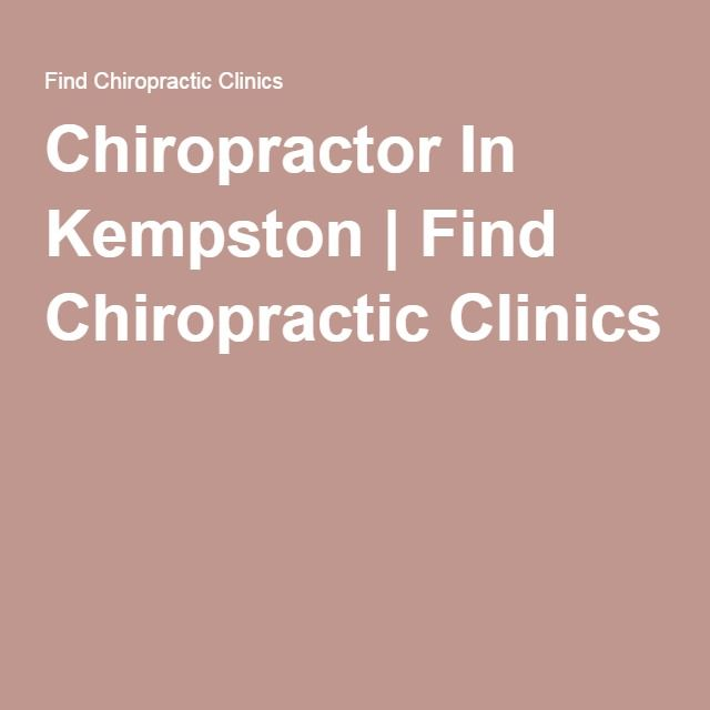 Chiropractor In Kempston | Find Chiropractic Clinics