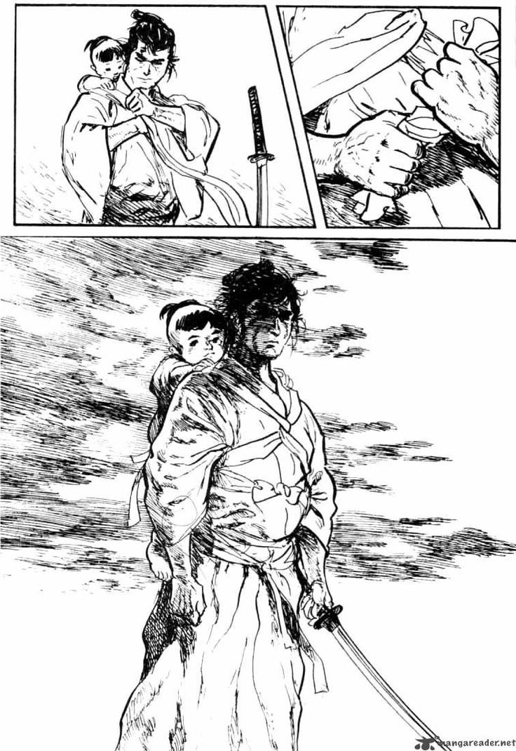 Image result for lone wolf and cub manga