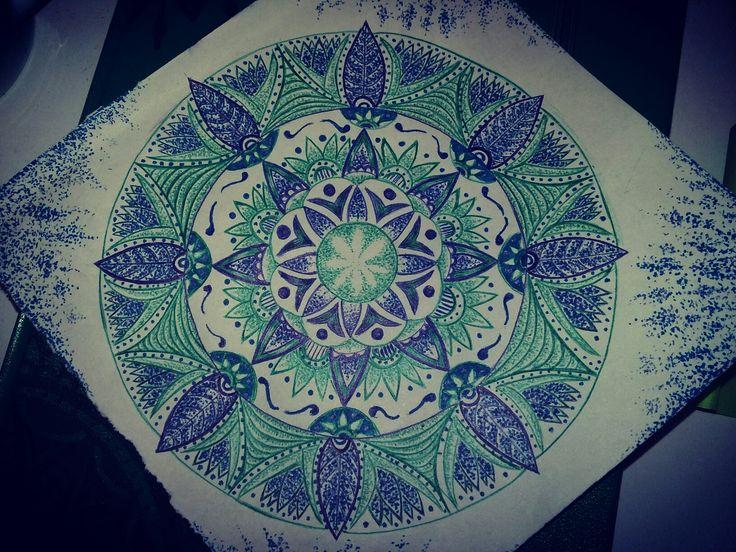 green & blue mandala