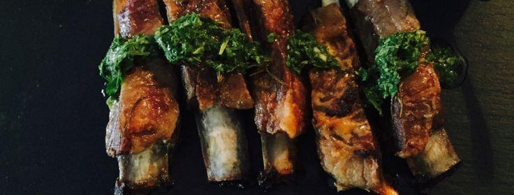 Lemon, Garlic & Rosemary Lamb Riblets with Mint Chimichurri | My Nourished Family