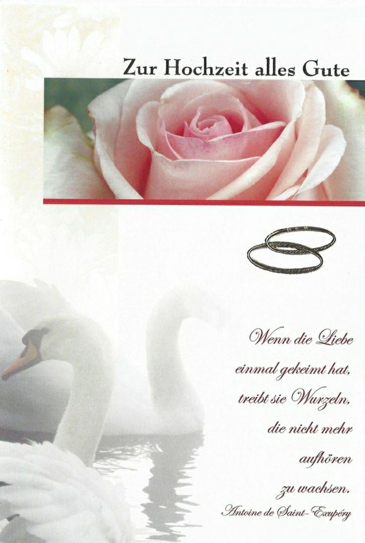 Hochzeitskarte mit tollem Glückwunsch