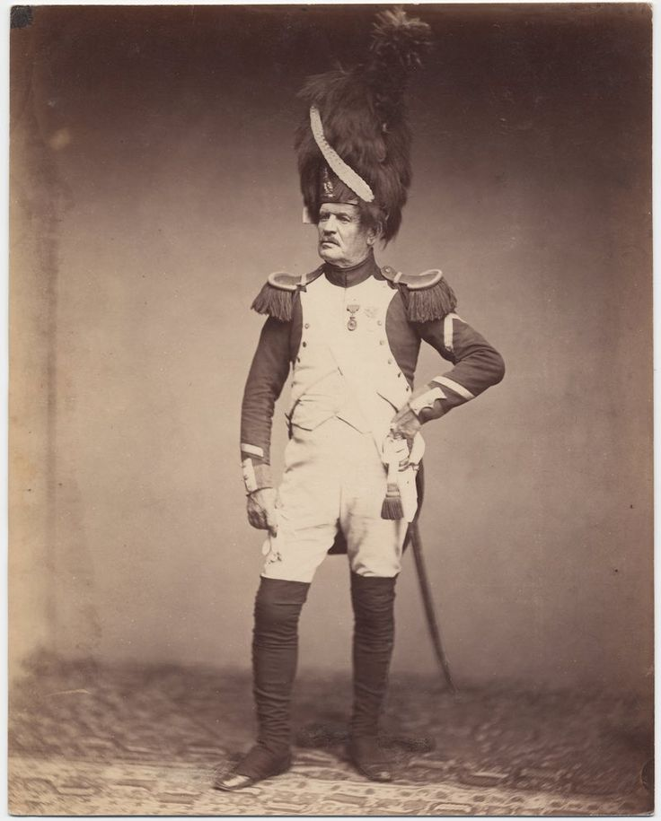 Sergeant Taria, Grenadiere de la Garde, 1809-1815  The only surviving images of veterans of the Napoleonic Wars