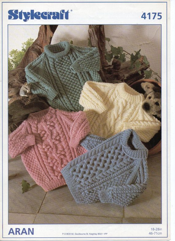 PDF Instant Download 1980s Childrens/ Kids Aran by Hobohooks, £1.20