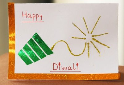 Best Ideas to Create Greeting cards for Diwali 2013 using waste things.
