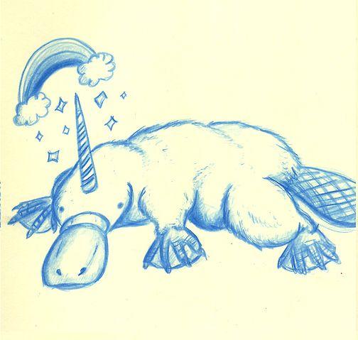 Platypus + Unicorn = Platypuscorn, simple math