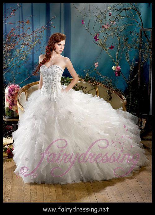 Robe KS136-21 Bustier forme cœur,  Robe princesse,  en satin et tulle , strass argentee ,Robe de mariée Fairydressing de la boutique fairydressing sur Etsy