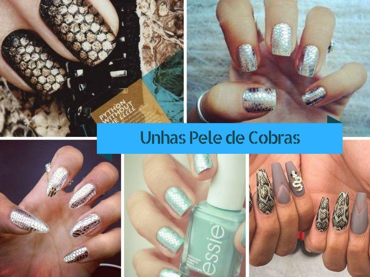 10 Unhas Decoradas Pele de Cobra - http://webfeminina.com/10-unhas-decoradas-pele-de-cobra/