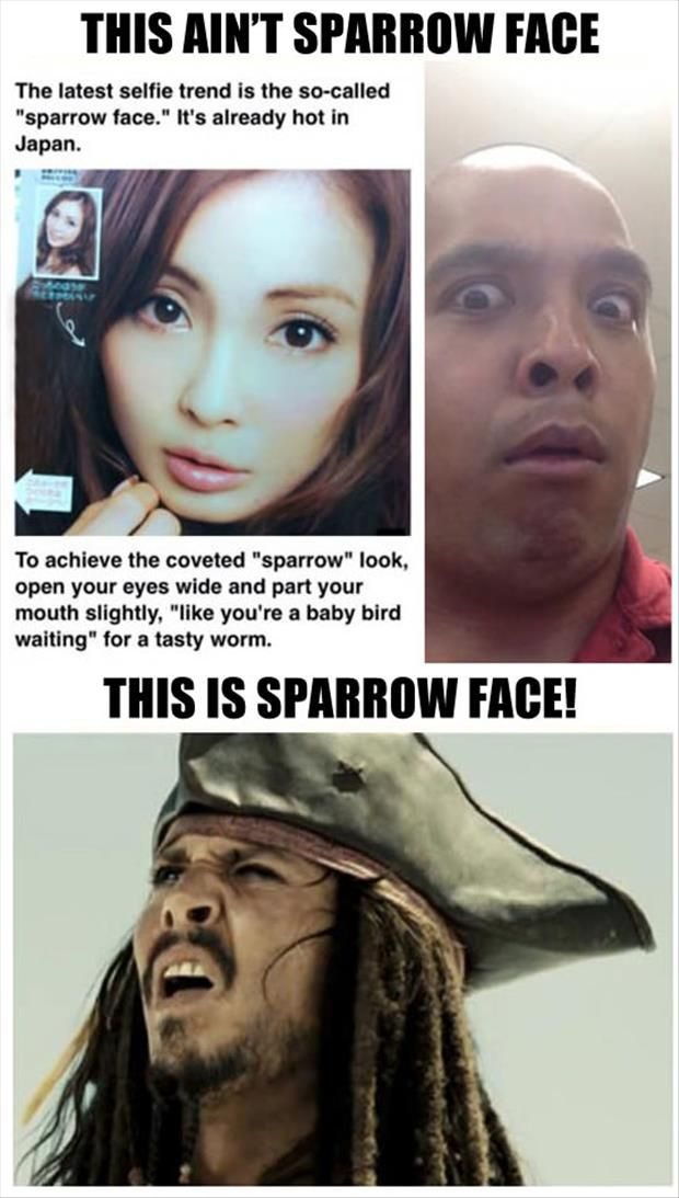 Sparrow Face can only be correctly achieved by Captain Jack Sparrow!