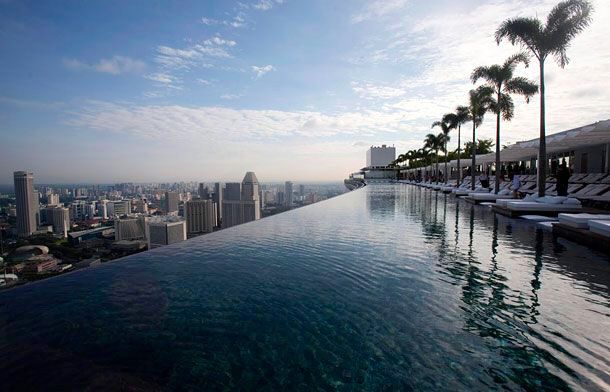 Infinity pool, Marina Bay Sands Hotel!