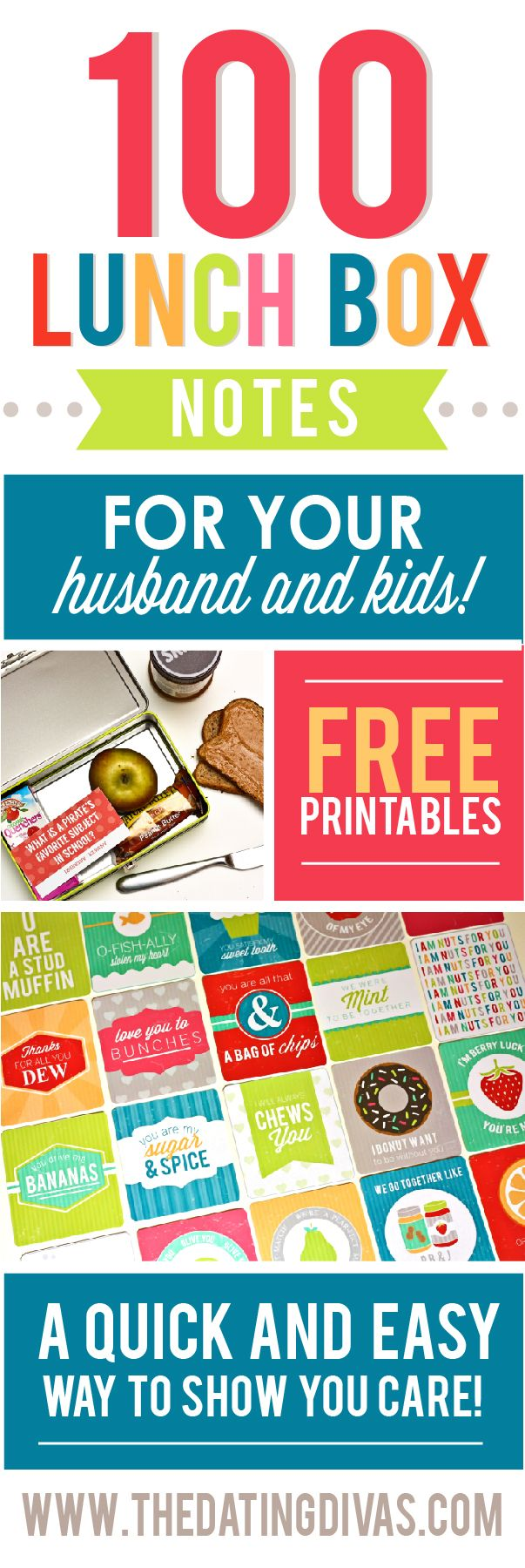 100 Lunch Box Notes for your hubby!