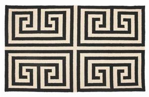 Grecian key rug
