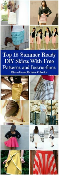 Don't you just love free patterns? When those patterns allow you to create an entire new wardrobe, it's great. We have collected a lot of skirt patterns for you. With summer in full swing, it just seemed to be the right time to begin working on a few short and cute skirts.