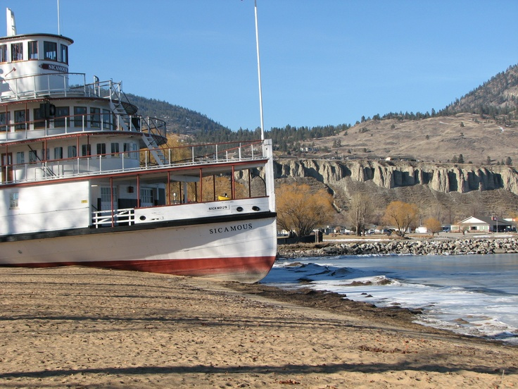 SS Sicasmous along the shores of Okanagan Lake in Penticton, BC