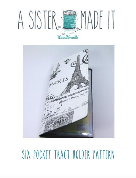 """JW Tract Holder Digital Pattern. Make your own custom ministry tract holder using the original """" A Sister Made It"""" pattern."""