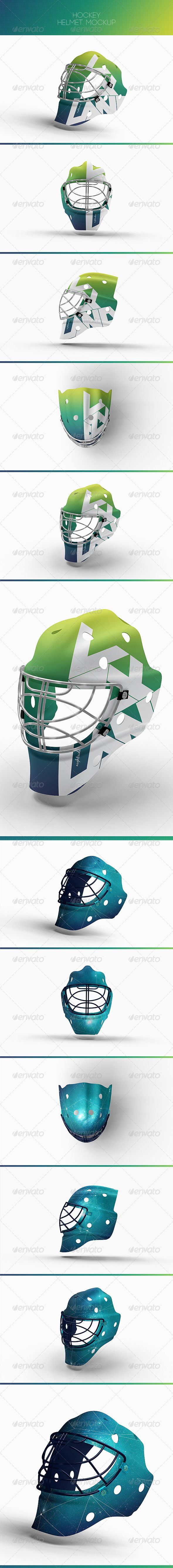 Hockey Helmet Mock-Up | #hockeymockup | Download: http://graphicriver.net/item/hockey-helmet-mockup/8524361?ref=ksioks