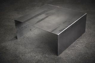 John Beck Paper & Steel Raw Steel Square Coffee Table | 2Modern Furniture & Lighting