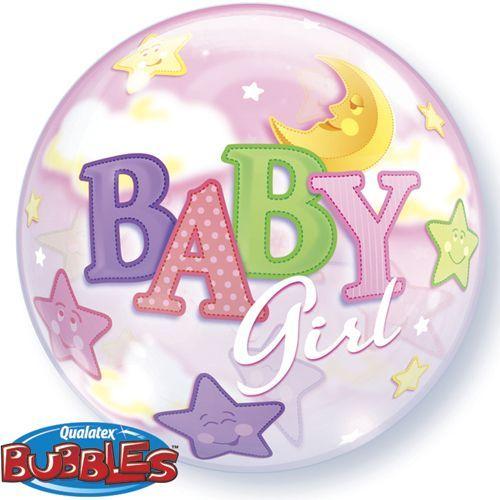 Baby girl moon & stars bubble balloon http://www.wfdenny.co.uk/p/baby-girl-moons-and-stars-bubble-balloon/2121/