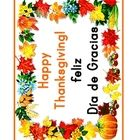 This Spanish Thanksgiving Vocabulary download contains a 'Happy Thanksgiving' poster as well as 60 vocabulary (given both in English and Spanish.) ...