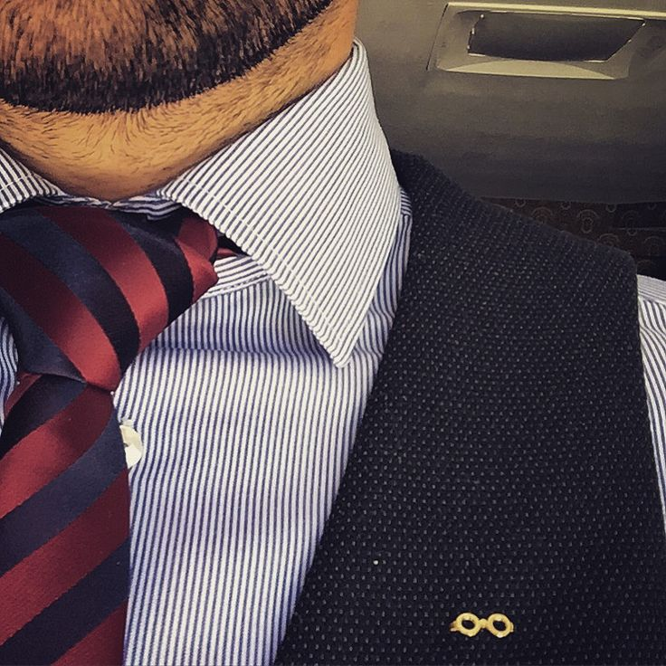 Gold lapel pin!