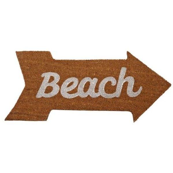 Mud Pie Brown Anchors Away Beach Door Mat ($25) ❤ liked on Polyvore featuring home, outdoors, outdoor decor, brown, anchor doormat, woven doormat, brown door mat and woven door mat