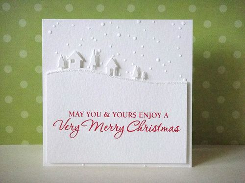 white on white Memory Box Country Landscape die card - bjl